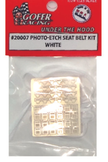 Gofer Racing Photo-Etch Seat Belt Kit - White