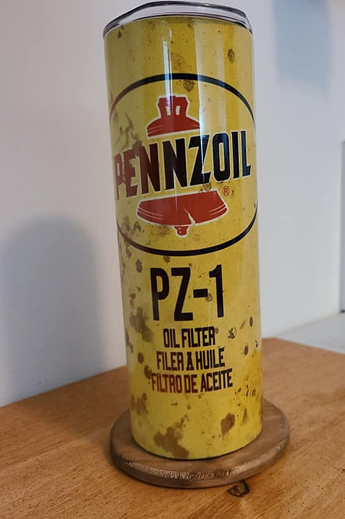 20 oz Pennzoil Oil Filter Skinny Tumbler