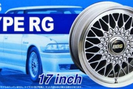 """Aoshima BBS Type RG 17"""" Wheel and Tire Set"""
