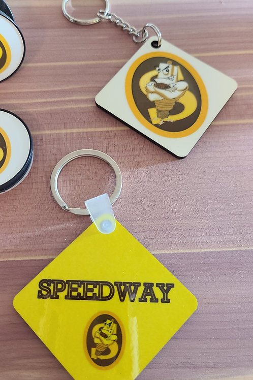 Speedway Sparkplugs Keychain