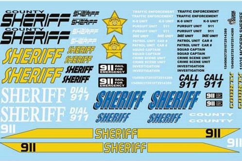 Gofer Racing Modern Sheriff Graphics