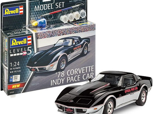Revell 1978 Chevrolet Corvette Indy 500 Pace Car w/Paint Set