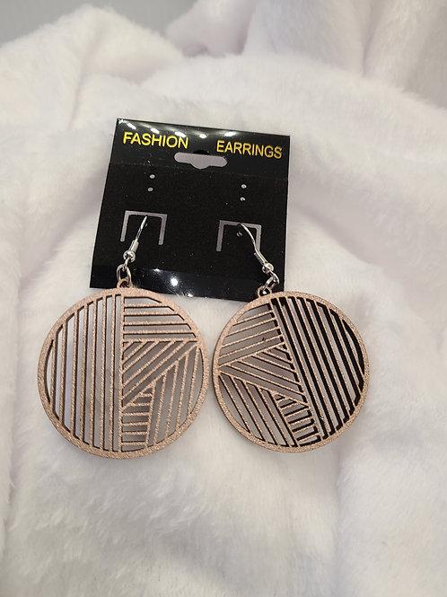 gold lattice cut earrings