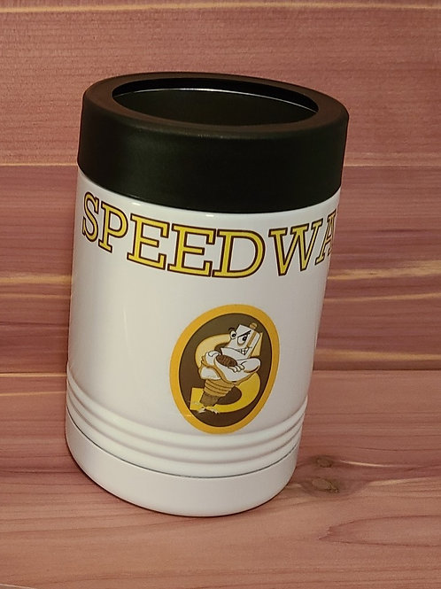 Speedway Sparkplugs Metal Can Coozie