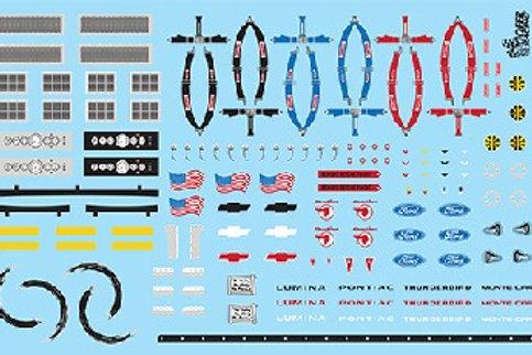 Gofer Racing Race Car Accessories Decal Sheet