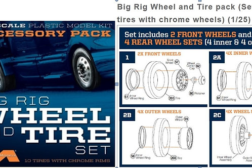 Moebius Big Rig Wheel & Tire Set