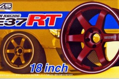 "Aoshima Volk Racing TE37RT 18"" Wheel and Tire Set"
