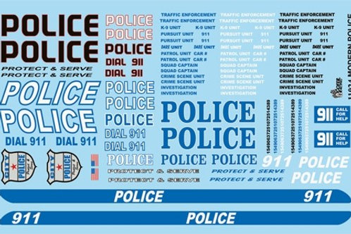 Gofer Racing Modern Police Graphics