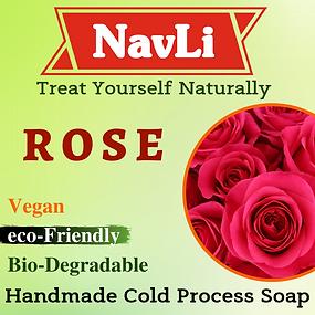 Rose Soap, NavLi Naturals