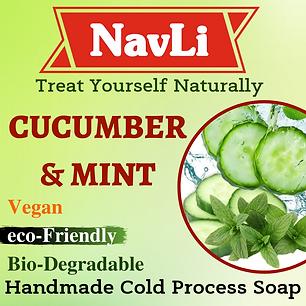 Cucumber & Mint Soap, NavLi Naturals