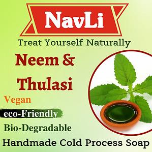 neem & tulasi soap, NavLi Naturals