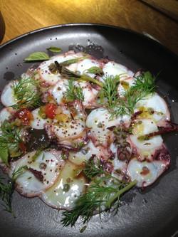 Squid carpaccio