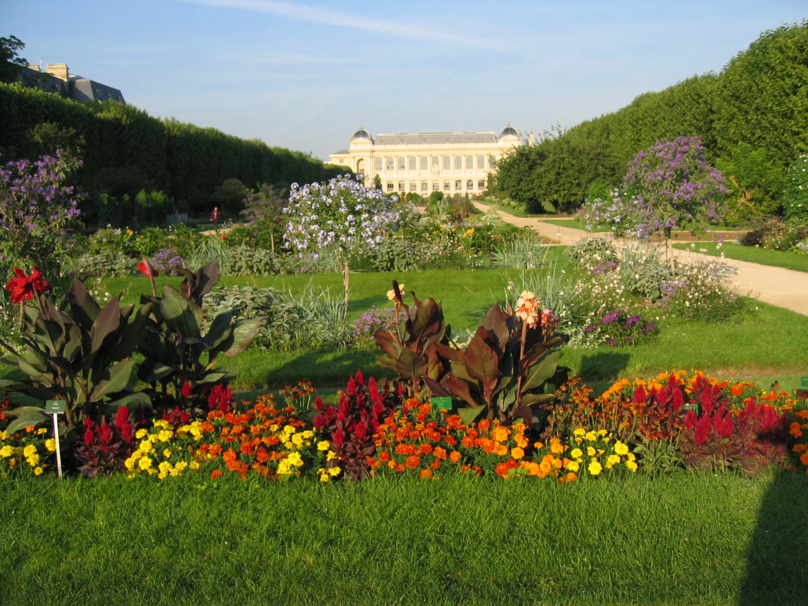 Grand galerie and flowers