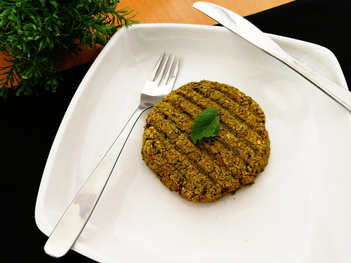 Hambúrguer de ervilha com hortelã