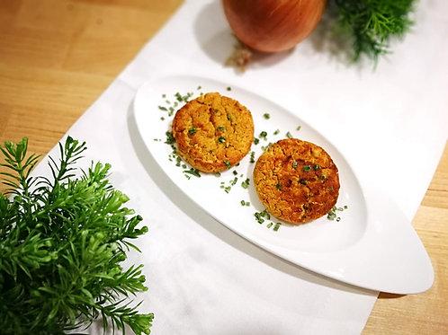 Hambúrguer de grão de bico com cenoura