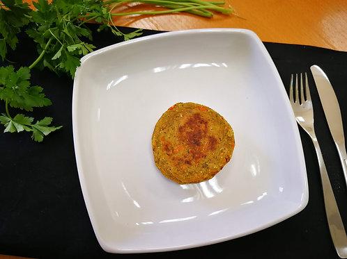 Hambúrguer de batata doce e legumes