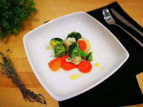Legumes no azeite de tomilho