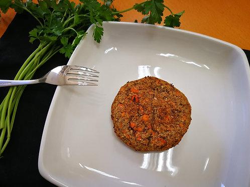 Hambúrguer de feijão com legumes