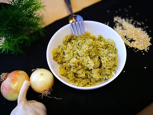 Quinoa com salsa