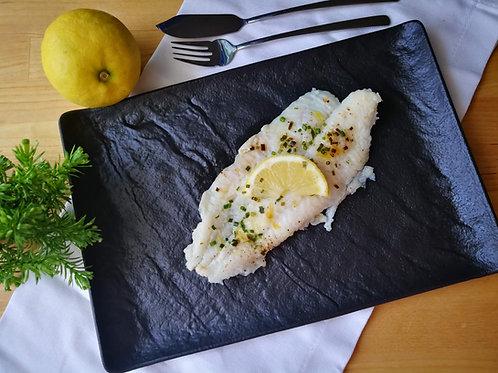 Filé de pescada com limão