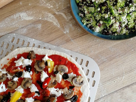 Black Bean, Broccoli and Feta Salad