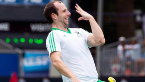 Peter Caruth makes 100th appearance for Ireland!