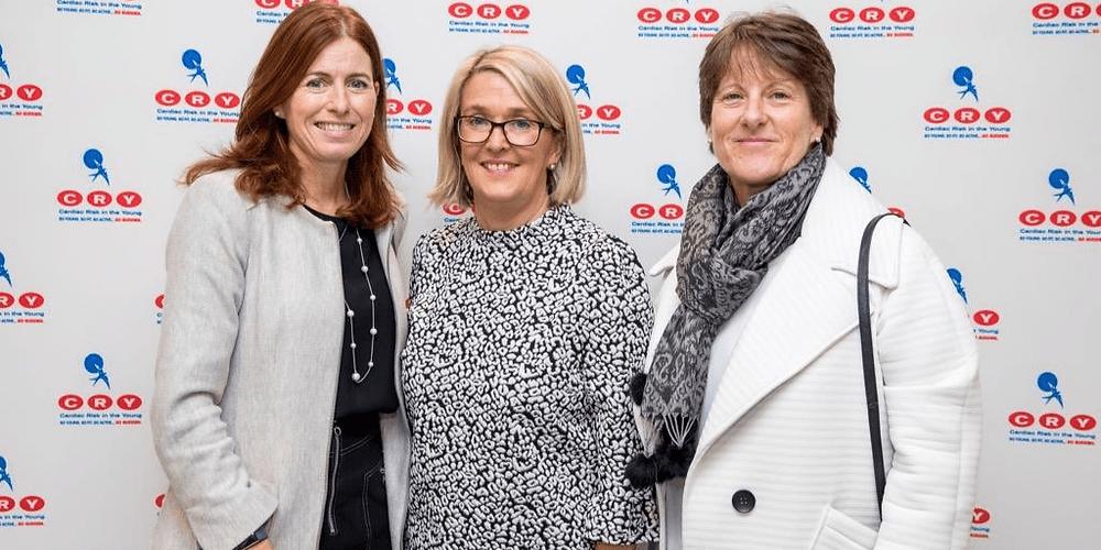 CEO of Cry Lucia Ebbs with Cliodhne Hamilton and Deirdre Mathews