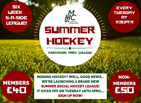 Summer Hockey Social League - sign up NOW!