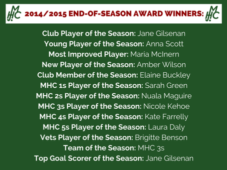 14-15 End of Season Awards Round Up!