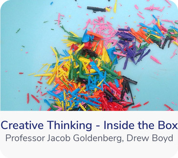 Is thinking creatively a gift or a skill? Can it be learned like other skills? Professor Goldenberg and Drew Boyd believe so, and have the years of experience to back them up. In this course they teach a simple, yet powerful framework...