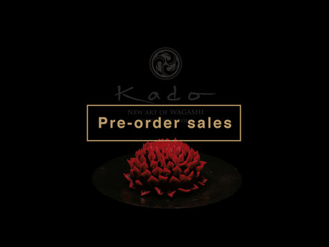 'KADO -New Art of Wagashi- will be launched 28 Jan.