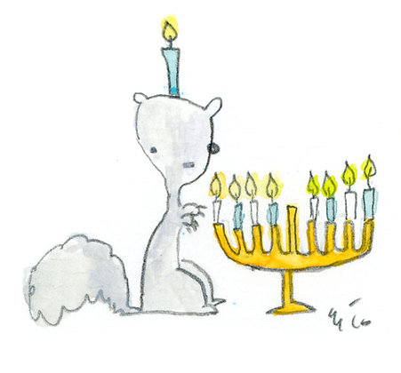 Squirrel Hannukah 5 pack