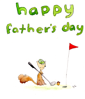 Father's Day Golf Squirrel