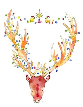 Christmas Deer Tree