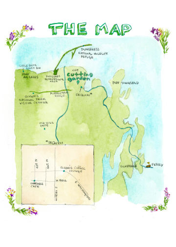 Seaside Wedding Map