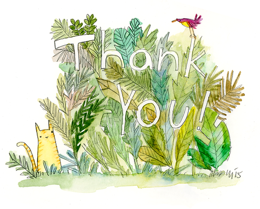 Thank you with Plants