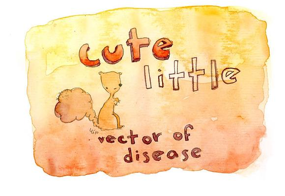 Cute Little Vector of Disease