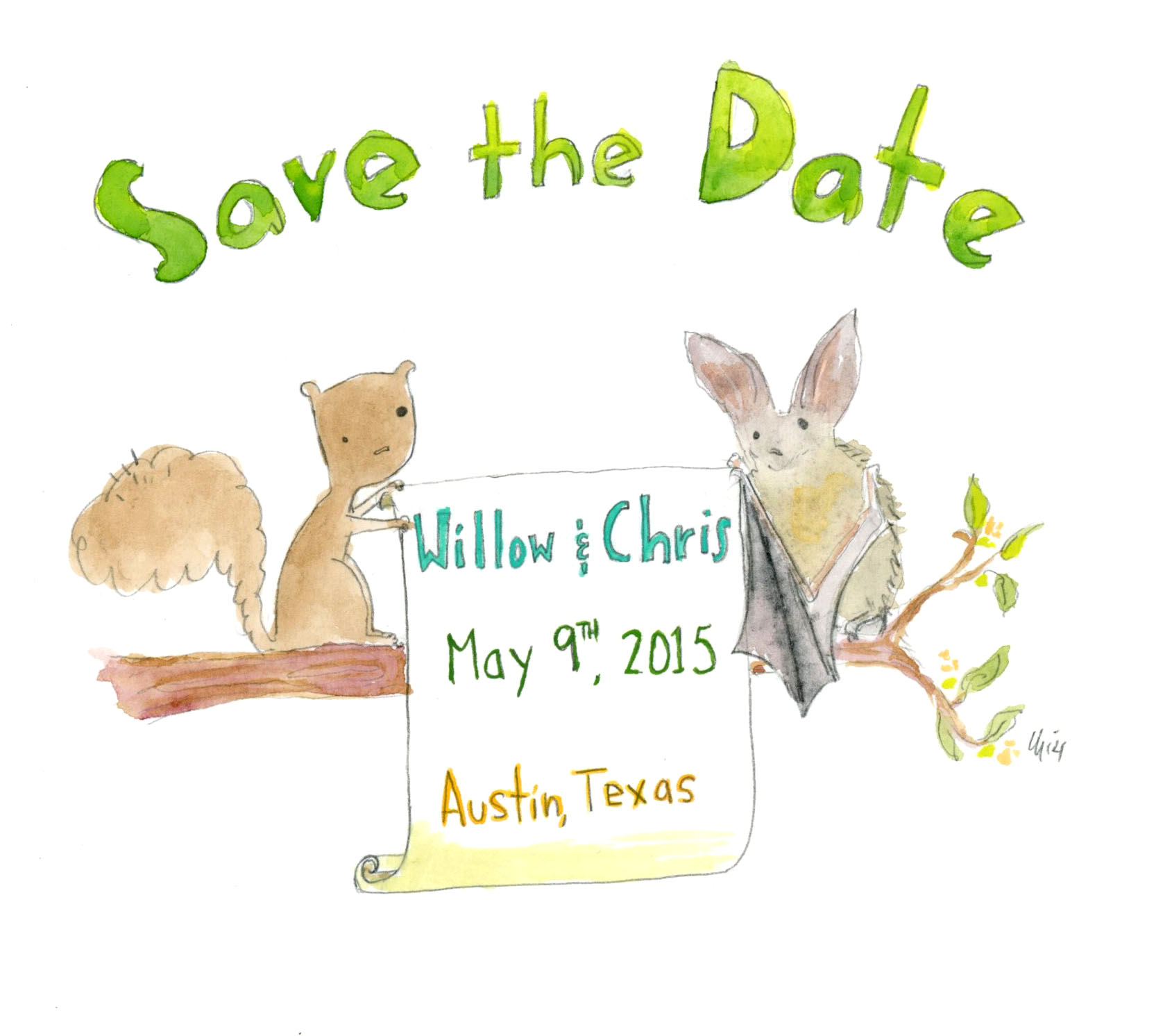 Austin Wedding Save the Date