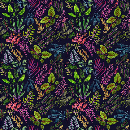 One Waxed Cotton Wrap 8x8 Tropical Plants