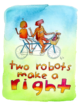Two Robots Make a Right