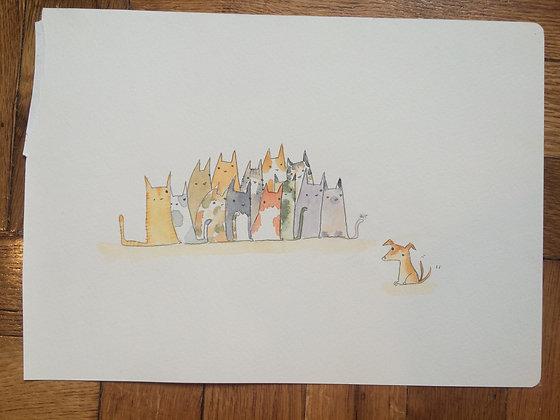 Original!! Cats against Dog