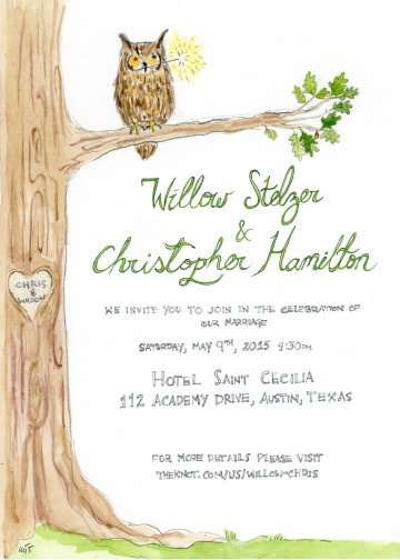 Austin Wedding Invitation