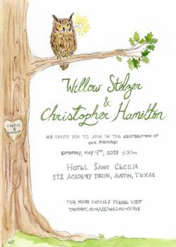 Austin Wedding Invitation