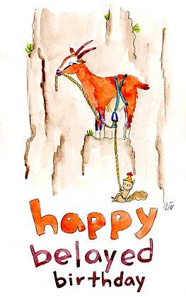 Happy Belayed Birthday