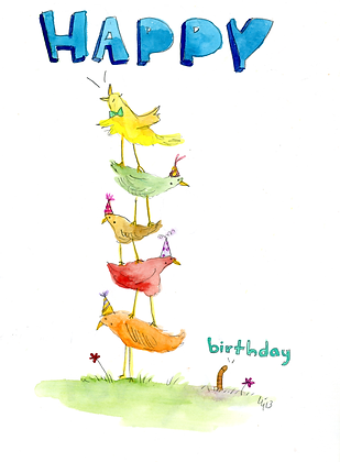 Birthday Bird Tower