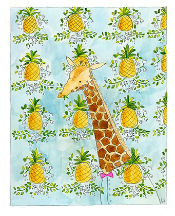 Giraffe Pineapple
