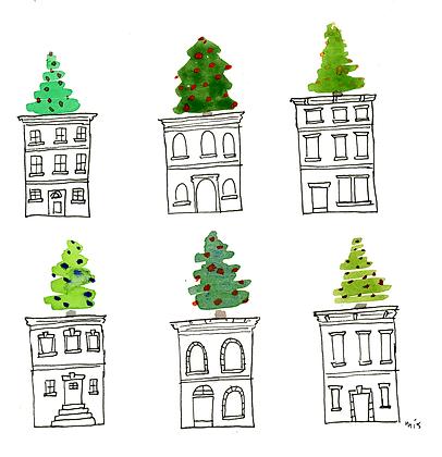 Christmas Tree Row Houses
