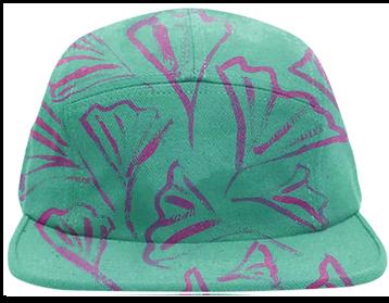 green, gingko, cap