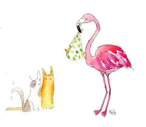 Special Delivery Flamingo