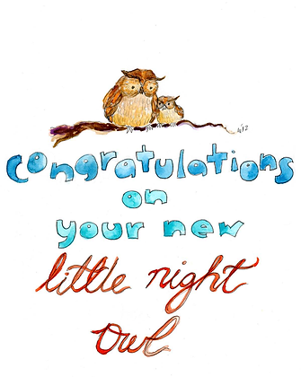 Congratulations On Your Night Owl